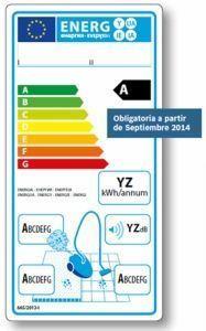 etiqueta consumo energético UE