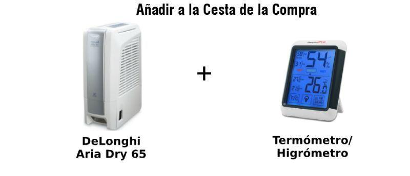paquete delonghi termómetro higrómetro