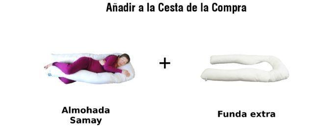 paquete almohada embarazo y funda samay