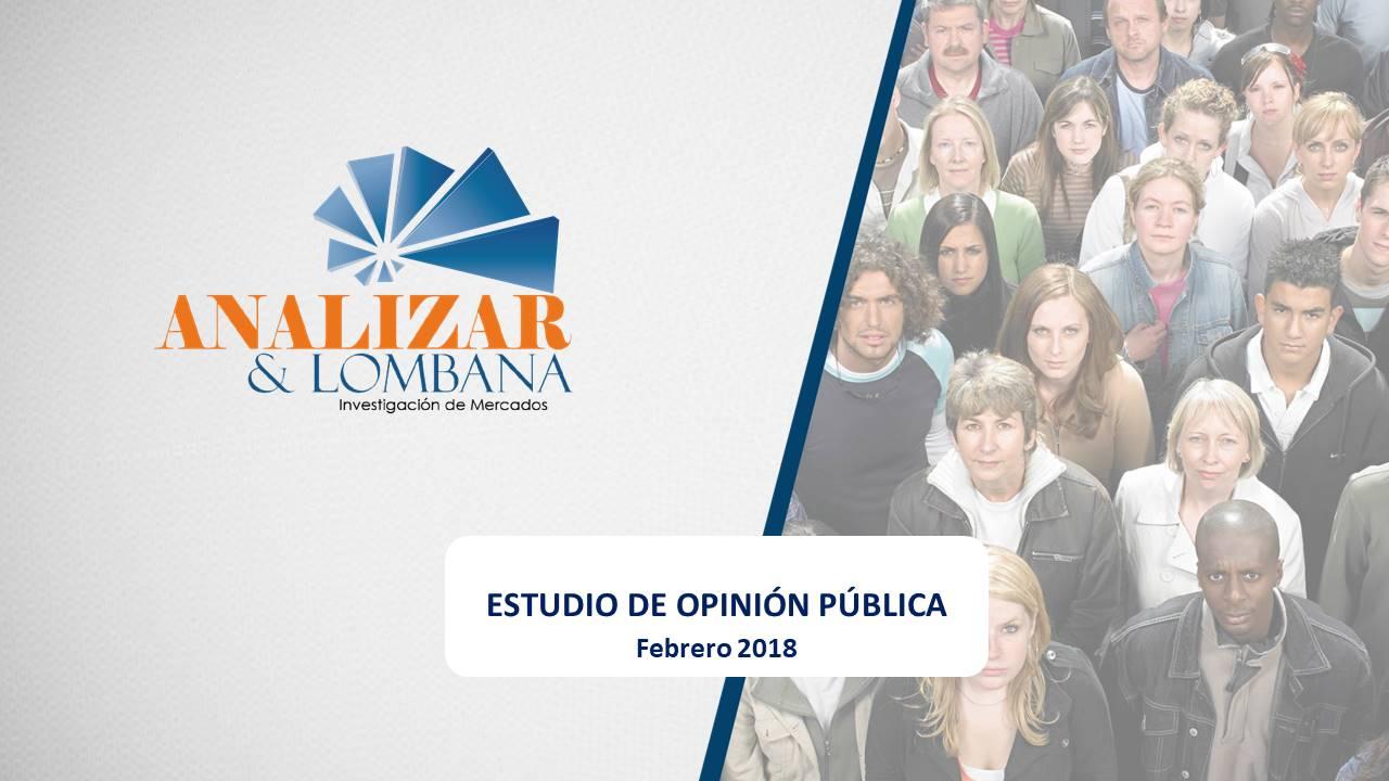 Estudio de Opinión Pública – Medición Febrero 2018 – Cali
