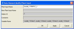 Plant Input penceresinden birden fazla durum değişkeninin giriş olarak tanımlanması
