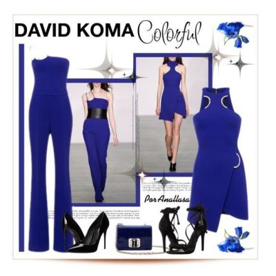 A fashion look from April 2016 by anallasa featuring David Koma, Dolce&Gabbana, Schutz, modaoperandi, davidkoma, anallasa and BlueKlein