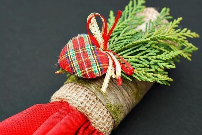 TP Napkin Ring in I Heart Plaid!