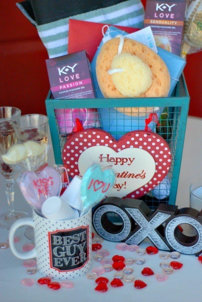 Valentines Day Date Night Gift Basket For Him An Alli Event