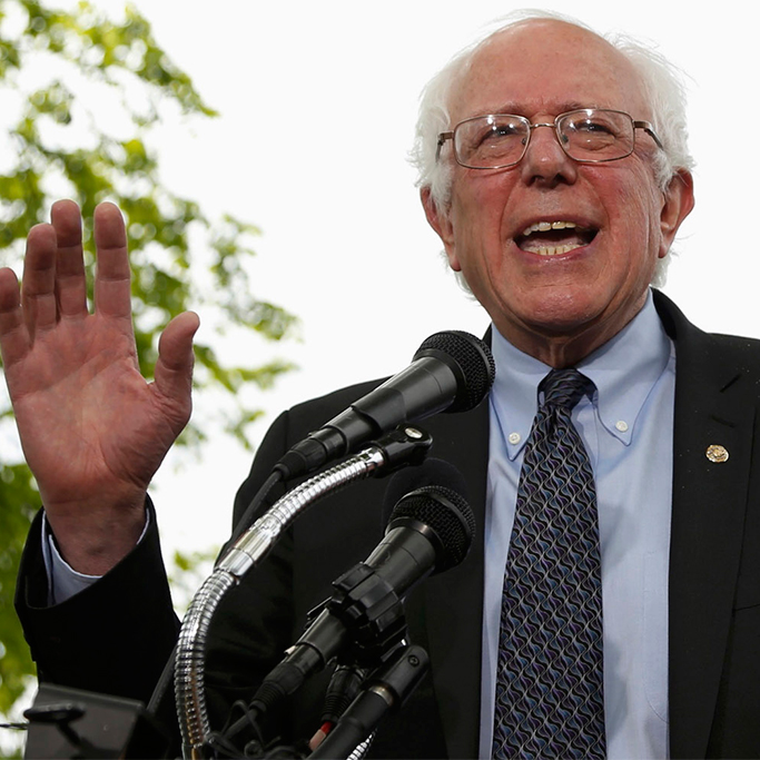 """SANDERS' BOLD CLAIM: """"MY HANDS ARE BIGGER THAN HILLARY'S AND WE ALL KNOW WHAT THAT MEANS."""""""