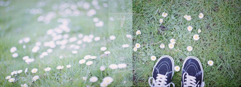 double exposure, analoge kiekjes
