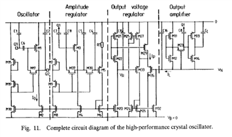 Complete Circuit diagram of the High performance crystal