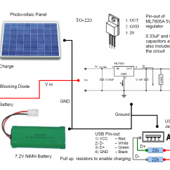 Wiring Diagram For Solar Battery Charger Modular Phone Jack Residential Power Distribution Free