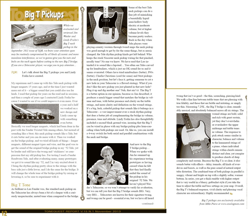 medium resolution of here is an article from tone quest report magazine about the big t pickups