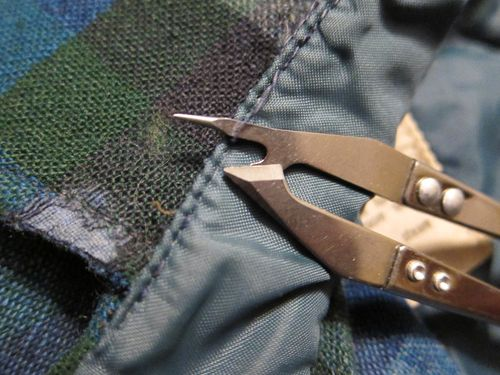 Thrifty Tip: How to fix a frayed collar (analog me)
