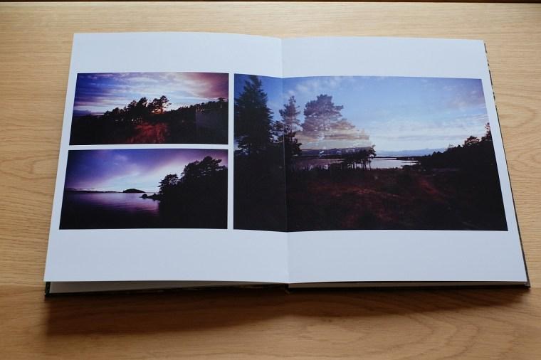 fotobuch, sonnenuntergang, analoge fotografie, schweden