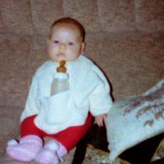 Erinnerungen Baby Rena im Jahr 1987