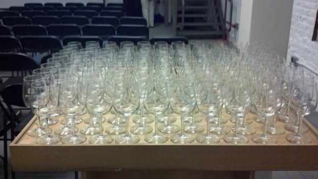 Blue Bee Cider Tastings & Wine Glasses