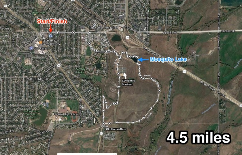Bear Creek Ditch Run Map