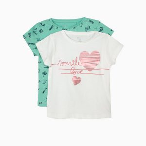 Pack 2 camisetas smile para niñas de Zippy