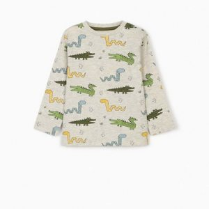 Camiseta bebe manga larga animales Zippy