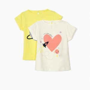 Pack 2 camisetas bebe niña Zippy