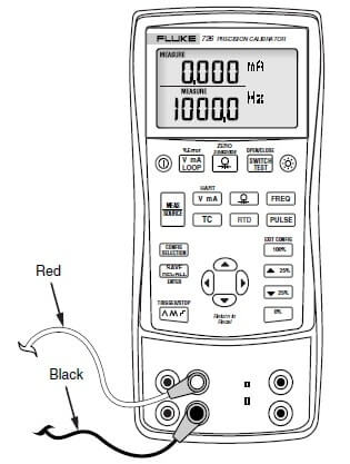 Fluke 726 calibrator :Measurements