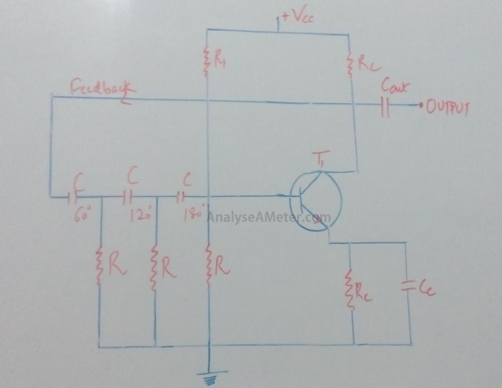 medium resolution of phase shift oscillator circuit explanation using opamp transistor