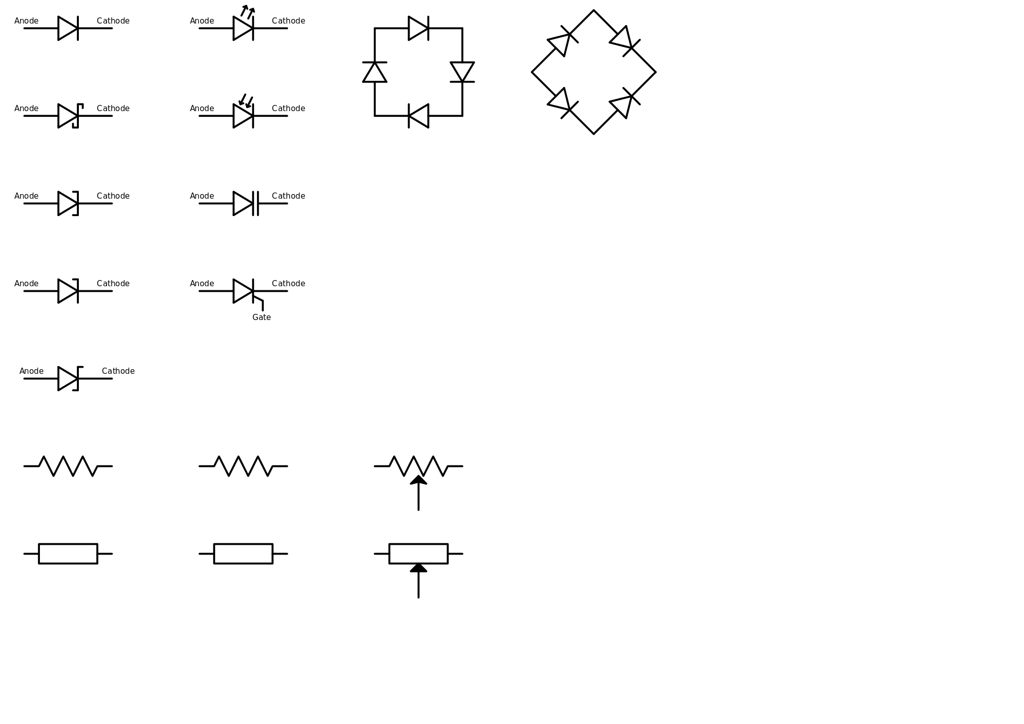 hight resolution of in the above image some of the electrical symbols are presented so basically these are just the representation of different electronics and electrical