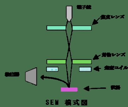 走査型電子顕微鏡(SEM)の原理・特徴