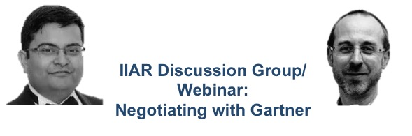 IIAR Discussion Group: negotiating with Gartner