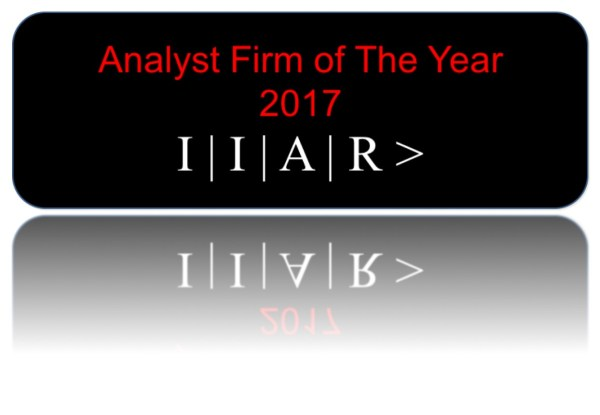 IIAR Analyst Firm of the Year 2017