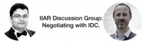 IIAR negotiating with IDC with Aniruddho Mukherjee and Ludovic Leforestier
