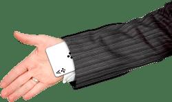 Hand with ace card up the sleeve (IIAR website)