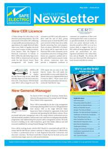 thumbnail of Safe Electric News Letter May 2016