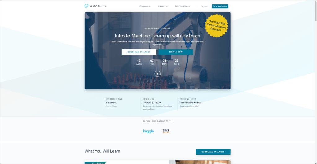 Udacity Intro to Machine Learning with PyTorch Nanodegree Review
