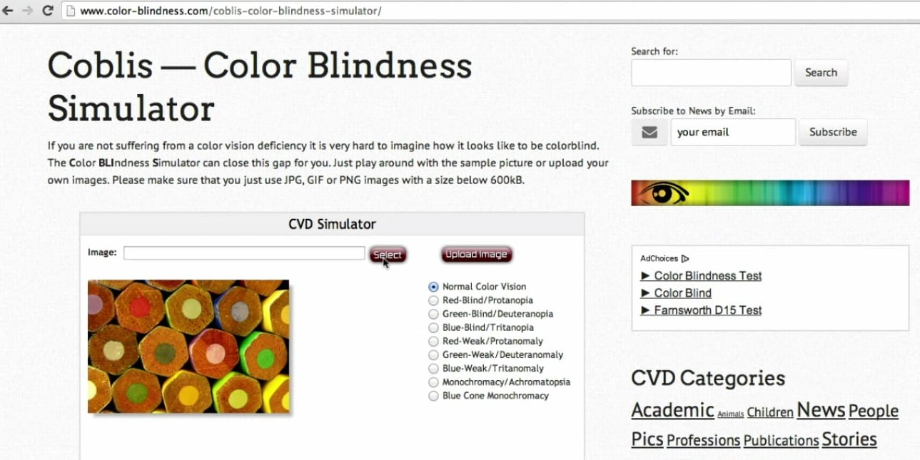 color blindness research paper Colorblindness: red-green colorblindness colorblindness is the total inability or reduced capacity to distinguish between different colors under average lighting conditions the term colorblindness refers to impairment of color vision but not actual blindness.