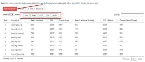 11 Keyword Everywhere - Keyword Tool Bulk Upload Keywords 2