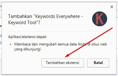 2 Keyword Everywhere - Keyword Tool Tambahkan Ekstensi