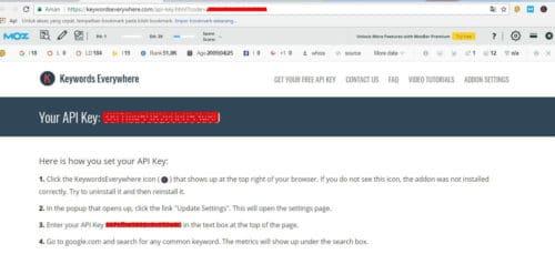 5 Keyword Everywhere - Keyword Tool API Key
