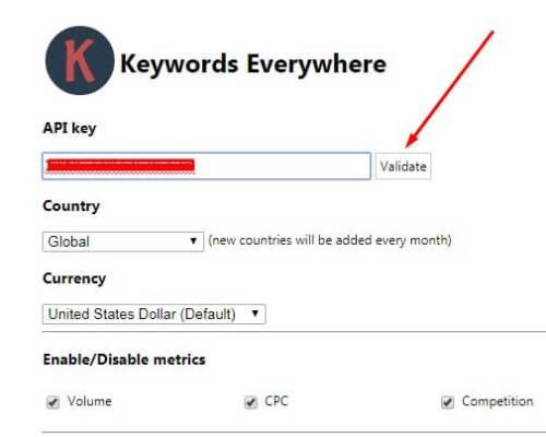 7 Keyword Everywhere - Keyword Tool Validate
