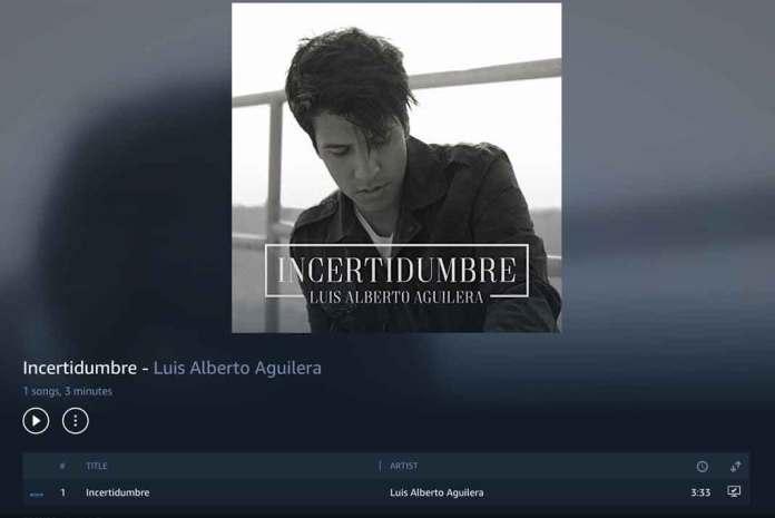 """El primer sencillo de Luis Alberto Aguilera se llama """"Incertidumbre"""""""