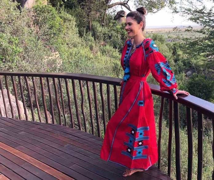 """""""La nueva reina de África"""", le escribió un seguidor a la presentadora en esta foto"""