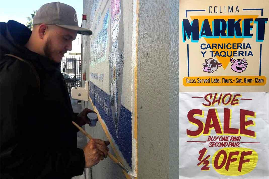Mike Rivera está buscando clientes que vivan en Los Angeles y necesiten letreros