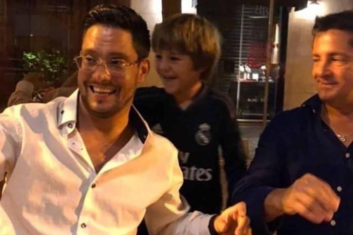 Sergio Basteri es una reunión familiar con su hermano Alejandro y su sobrino Pierre Alexander