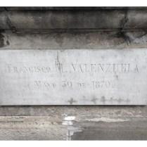 Tumba de Francisco M Valenzuela