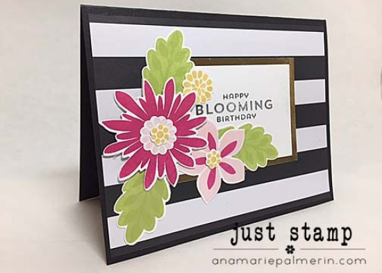 Just Stamp Flower Patch Birthday