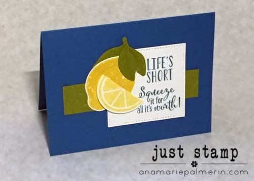 Lemon Zest Pacific Point Notecard