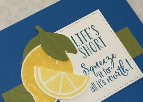 Lemon Zest Pacific Point Notecard Detail