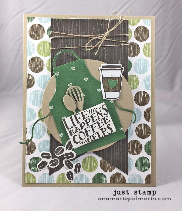 Just Stamp | Apron Card with Coffee Die Cuts