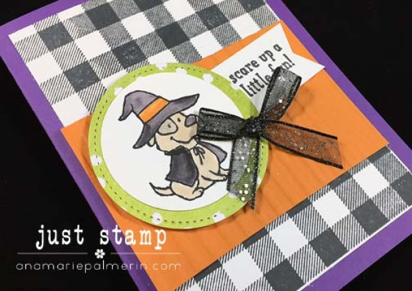 Just Stamp — Trick or Tweet Dog Zoom | Halloween Greeting from the Dog