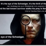 Since both Schweiger and tiger rhyme, and because both are mysterious and dangerous creatures, this graphic was inevitable.