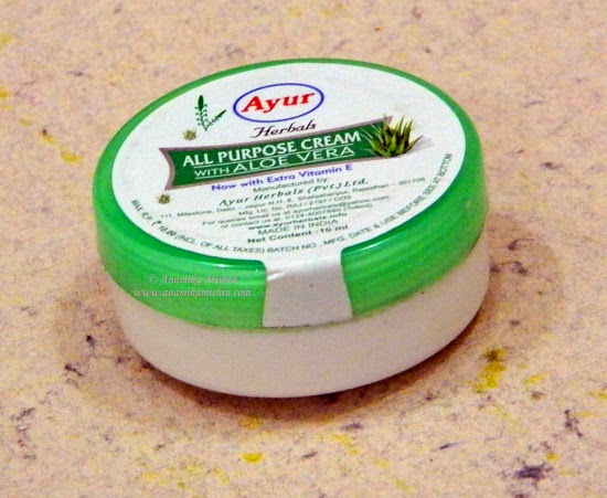 Ayur Herbals All Purpose Cream With Aloe Vera Review