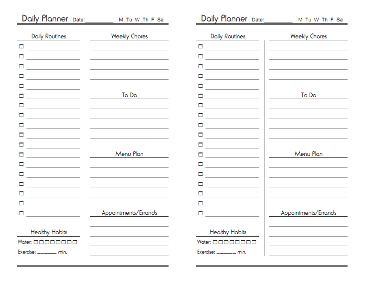 Free Printable Planner Designs