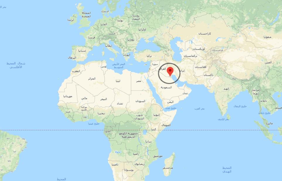 أين تقع الكويت على الخريطة جغرافية و موقع الكويت على خريطة العالم انا مسافر
